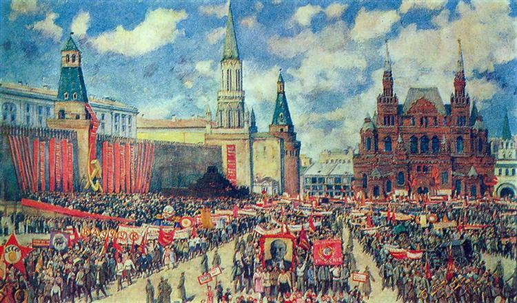 Konstantin Yuon, The 1st May Demonstration on The Red Square at 1929, 1930, Tretyakov Gallery, Moscow, Russia, first of may