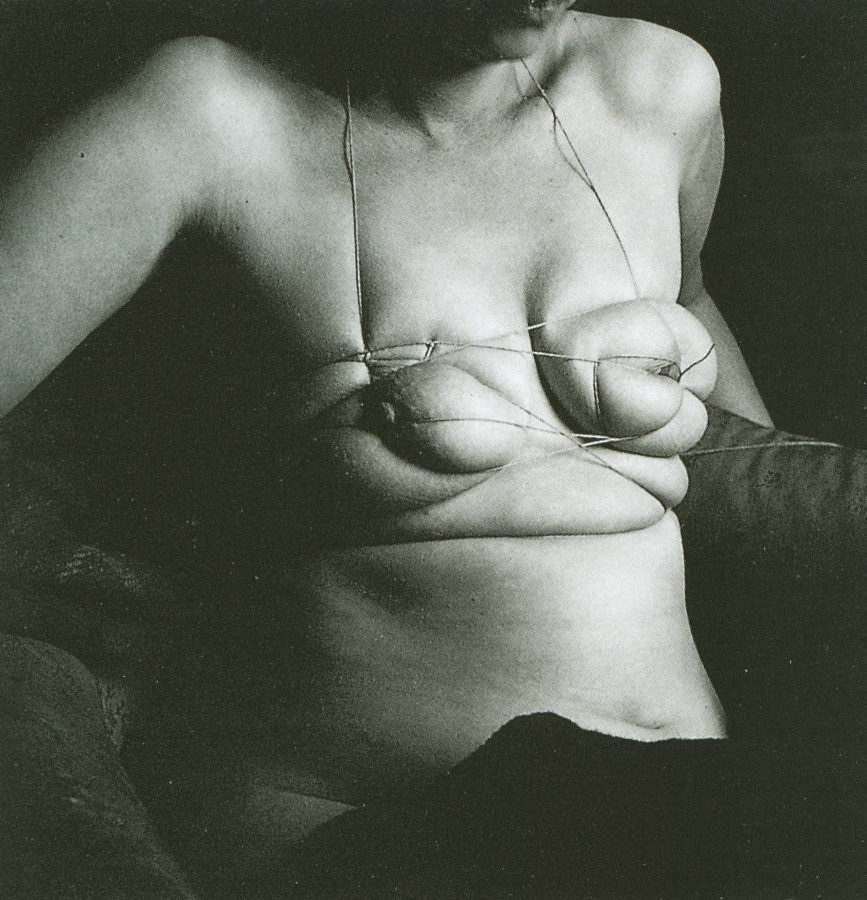 Hans Bellmer, Unica Tied Up, 1958. Source: https://www.dollwork.org/2014/01/28/unica-zurn-here-is-the-doll/, scandalous world of hans bellmer