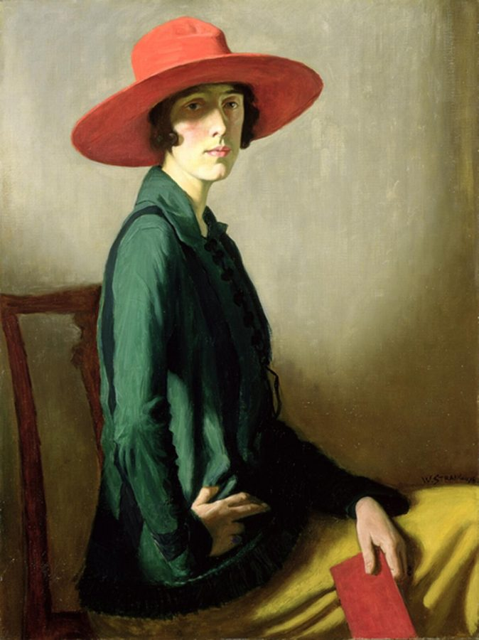 William Strang, Lady with a Red Hat (portrait of Vita Sackville-West), Art Gallery and Museum, Kelvingrove, Glasgow, Scotland, william strang portraitist
