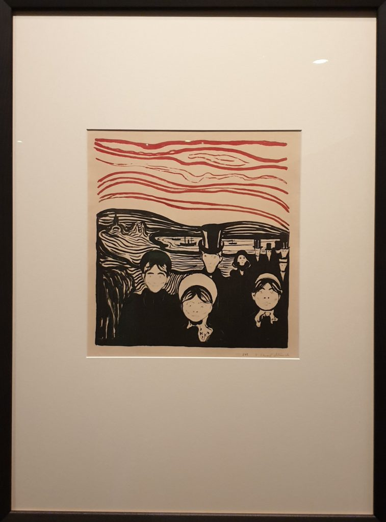 Edvard Munch, Angst, 1896, Munch Museum, Oslo - love and angst British Museum
