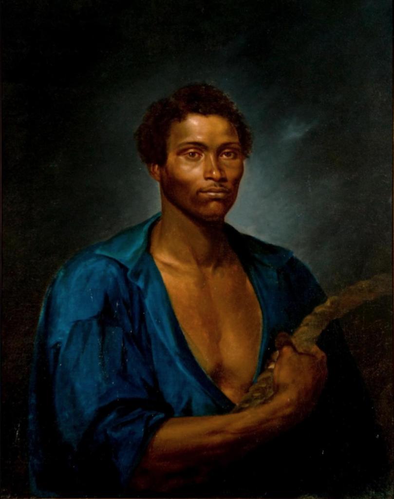 sé Correia de Lima, Portrait of the Heroic Sailor Simão, Coalman of the Steamboat Pernambucana, 1853, Museu Nacional de Belas Artes, Rio de Janeiro, Brazilian painting