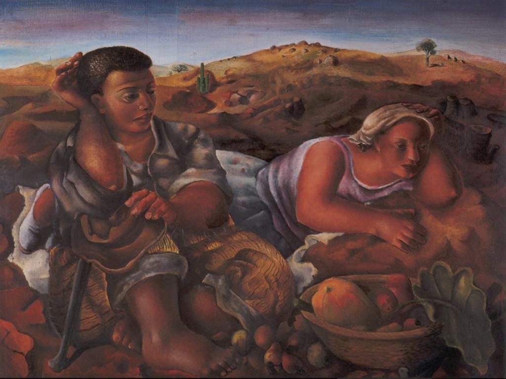 Emiliano Di Cavalcanti, Settlers, 1944, Museu Nacional de Belas Artes, Rio de Janeiro; MnBA Rio de Janeiro