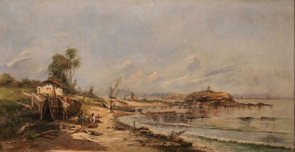 Antônio Parreiras, Gragoatá After the Storm, Niteroi RJ, 1886, Museu Nacional de Belas Artes, Rio de Janeiro, Brazilian painting