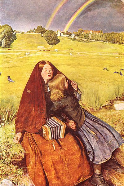 John Everett Millais, The Blind Girl, 1856, Birmingham Museum and Art Gallery; Rainbow in Painting for LGBT