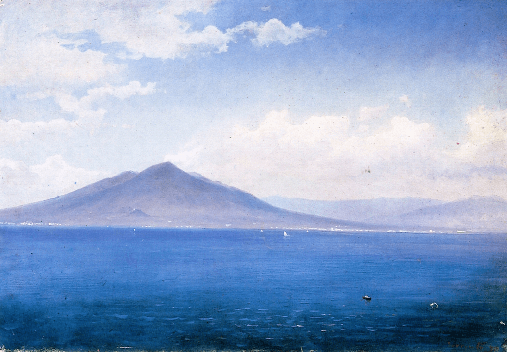 Bay of Naples, Vesuvius, from Sorrento by William Stanley Haseltine Luminism