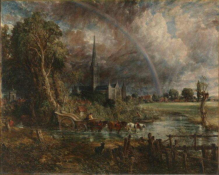 John Constable, Salisbury Cathedral from the Meadows, 1831, The National Gallery, UK