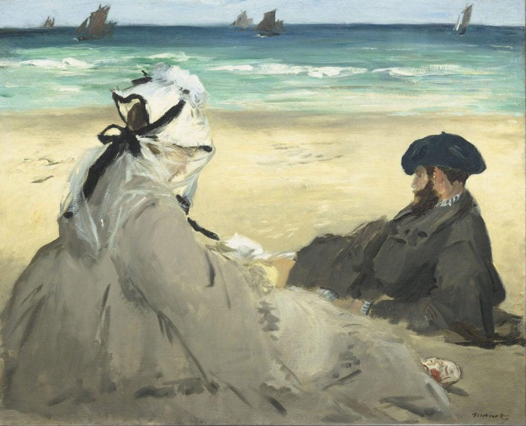 Edouard Manet, On the Beach, 1873, Musée d'Orsay, Paris - heatwave