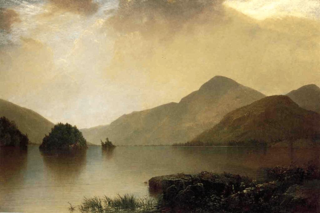 Lake George by John Frederick Kensett Luminist