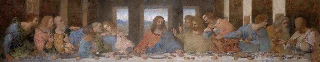 Leonardo da Vinci, The Last Supper, 1495–1498, Santa Maria delle Grazie, Milan, Italy.