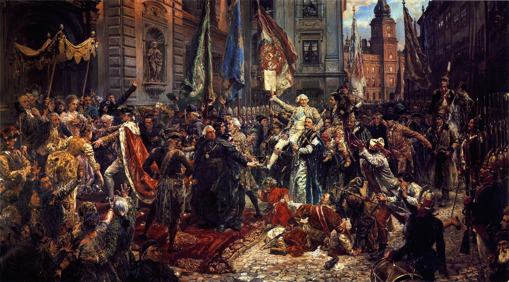 Jan Matejko, Constitution of May 3rd, 1791, 1891, Royal Castle, Warsaw, Poland.