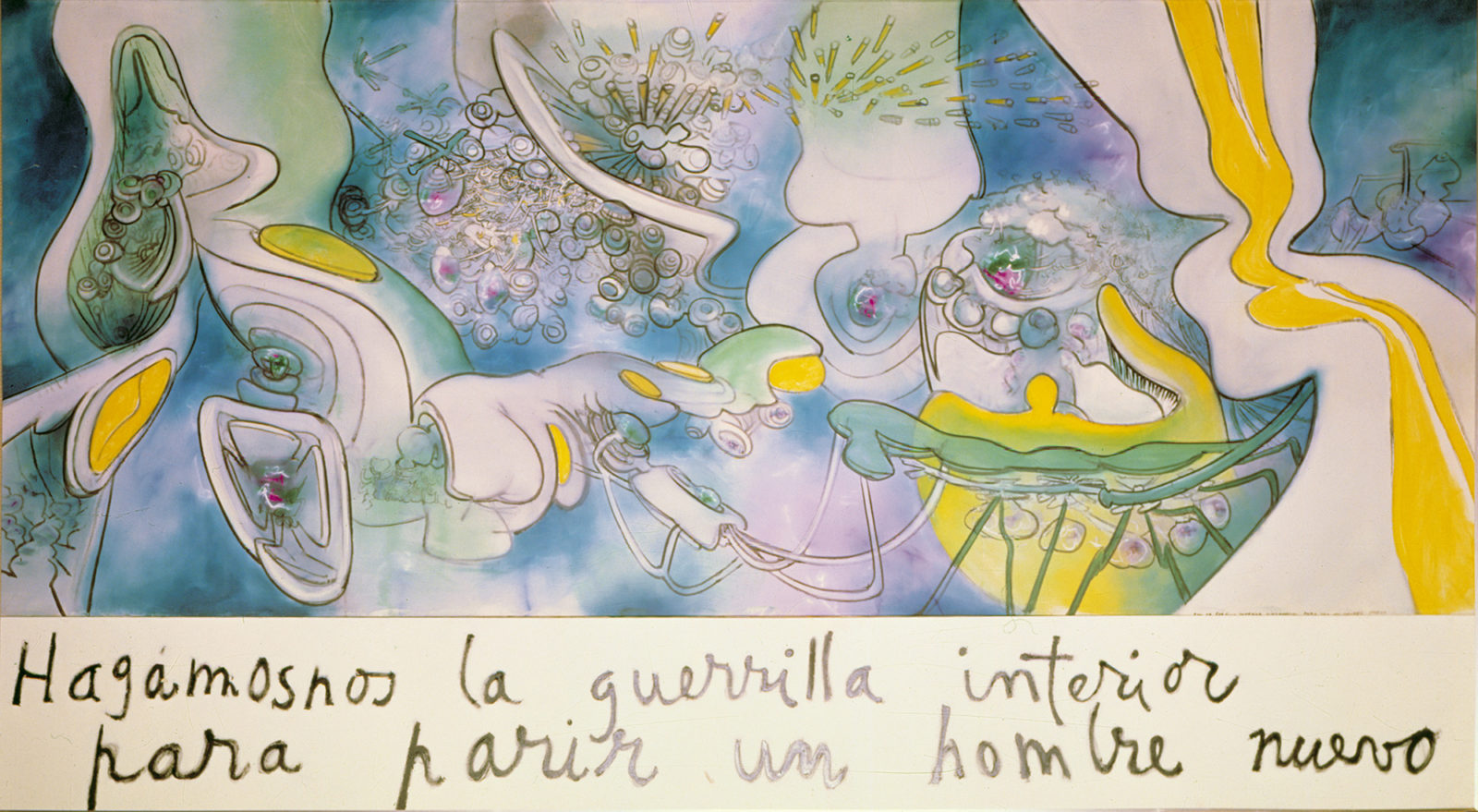 Roberto Matta, Let's Fight Ourselves from Within to Give Birth to a New Man (1970), Salvador Allende Museum, Santiago