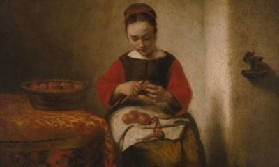 Young Woman Peeling Apples by Nicolaes Maes cover