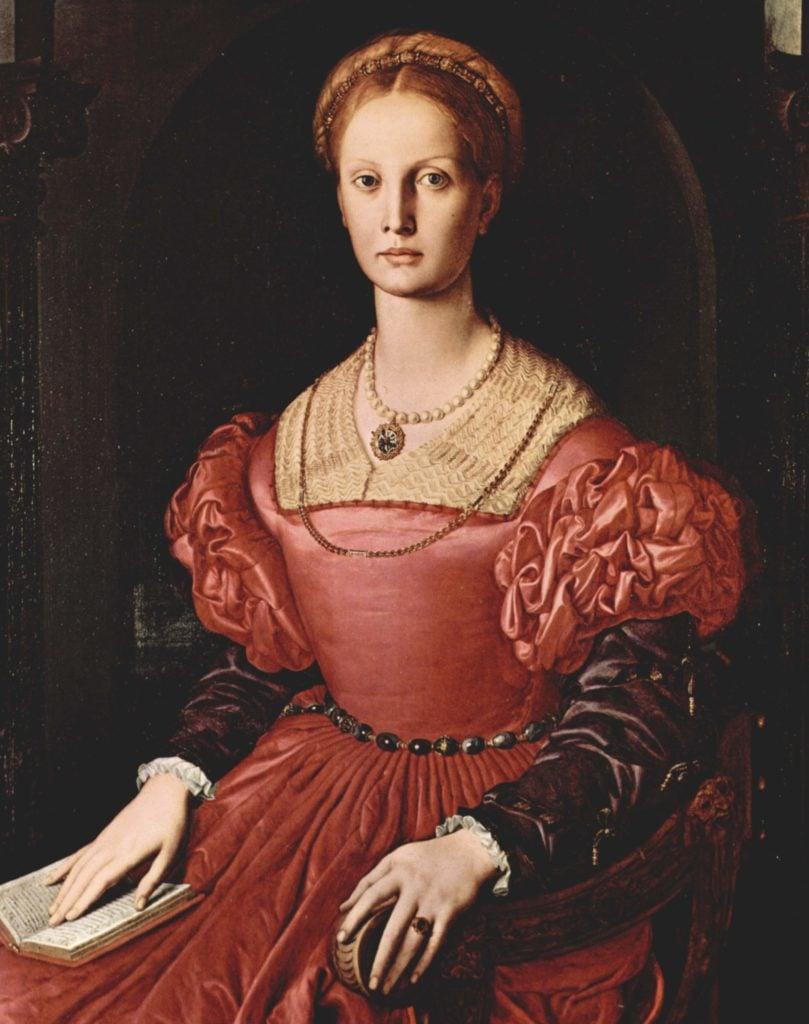 Agnolo Bronzino, Portrait of Lucrezia Panciatichi, ca 1545, Uffizi, Florence