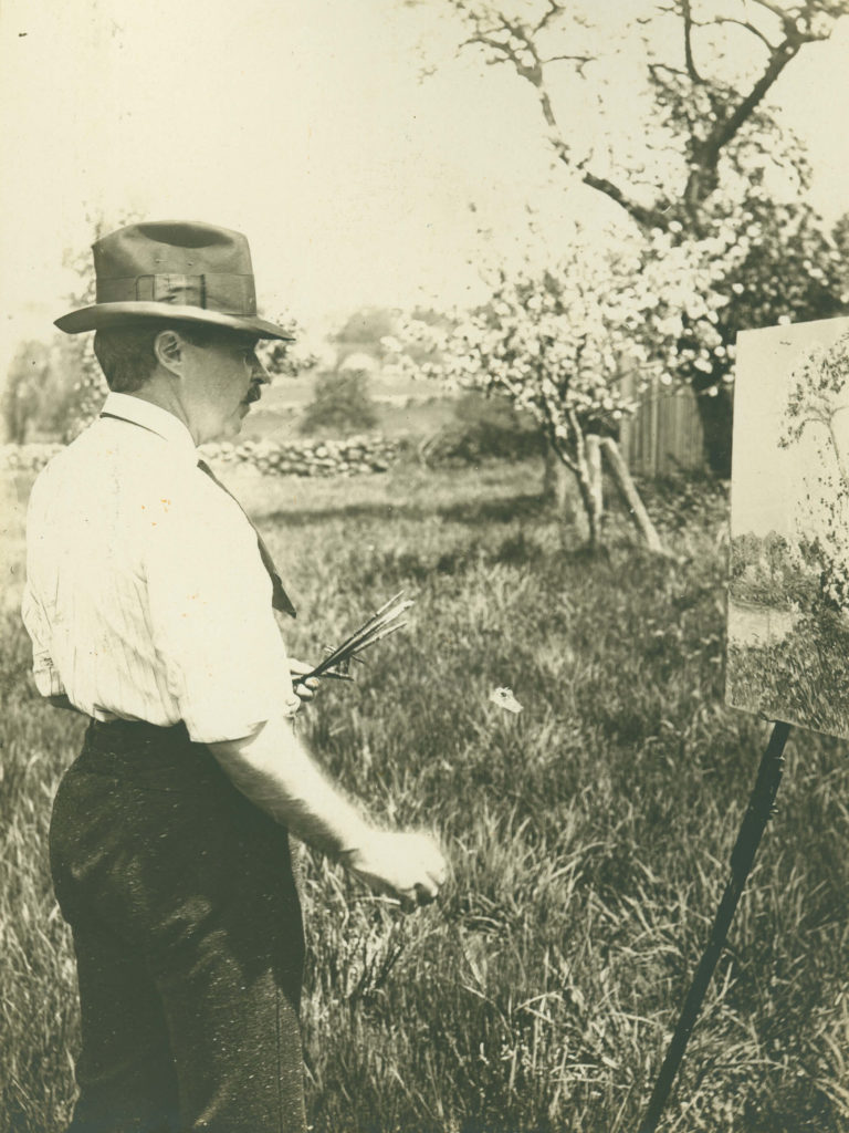 Hassam Painting Apple Trees