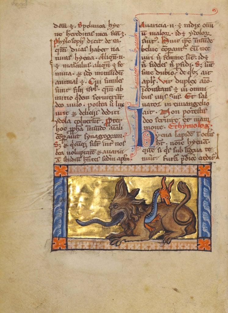 medieval bestiary hydrus