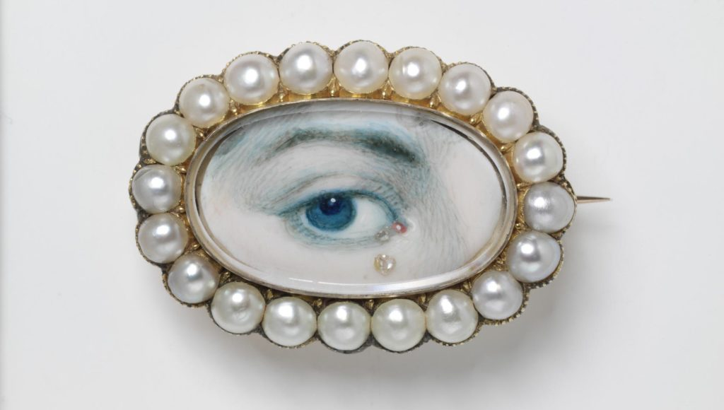 Lover's eye brooch, 1800 – 20, England, © Victoria and Albert Museum, London - pearls, diamonds, V&A jewelry, gold