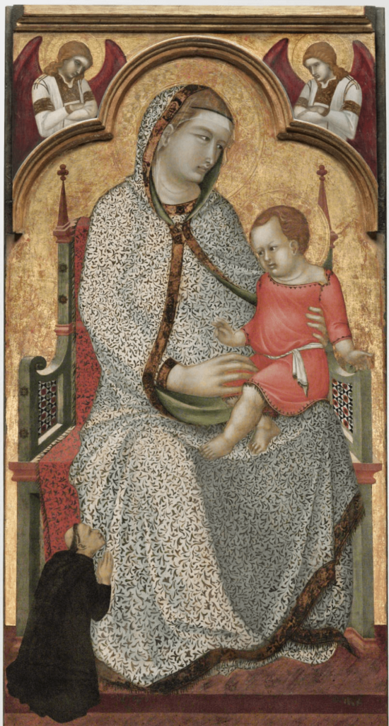 Virgin and Child Enthroned by Pietro Lorenzetti