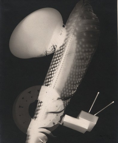 Man Ray, Feather and Matchboxes, 1923, Courtesy of Yale University Art Gallery; Man Ray rayographs