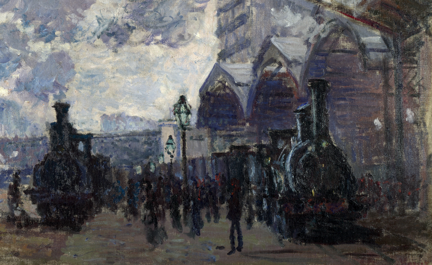 Claude Monet, The Gare St-Lazare, detail, 1877, The National Gallery, London.