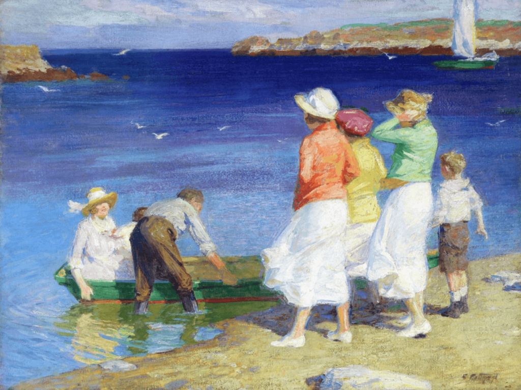 A Sailing Party by Edward Henry Potthast