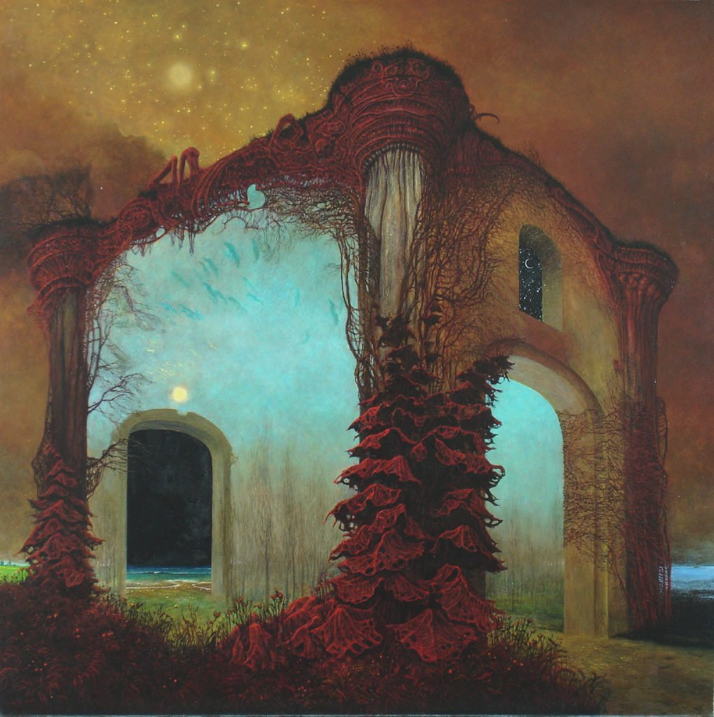Zdzislaw Beksinski, Untitled, 1978, ©Gallery of  Zdzisław Beksiński,  The Historical Museum, Sanok, Poland.