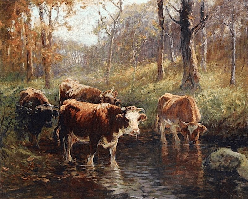At the Watering Hole by Matilda Browne