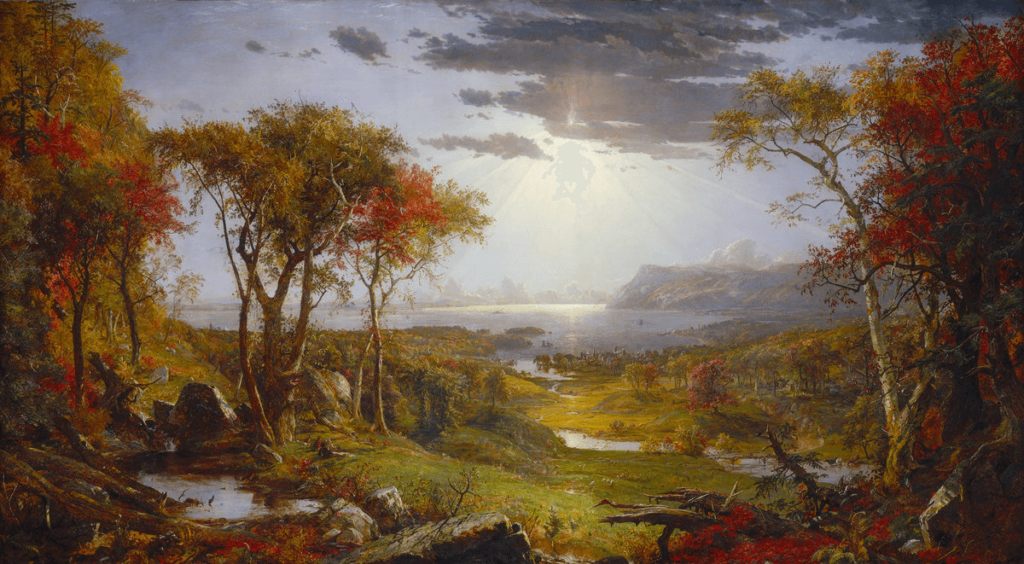 Autumn on the Hudson River by Jasper Cropsey