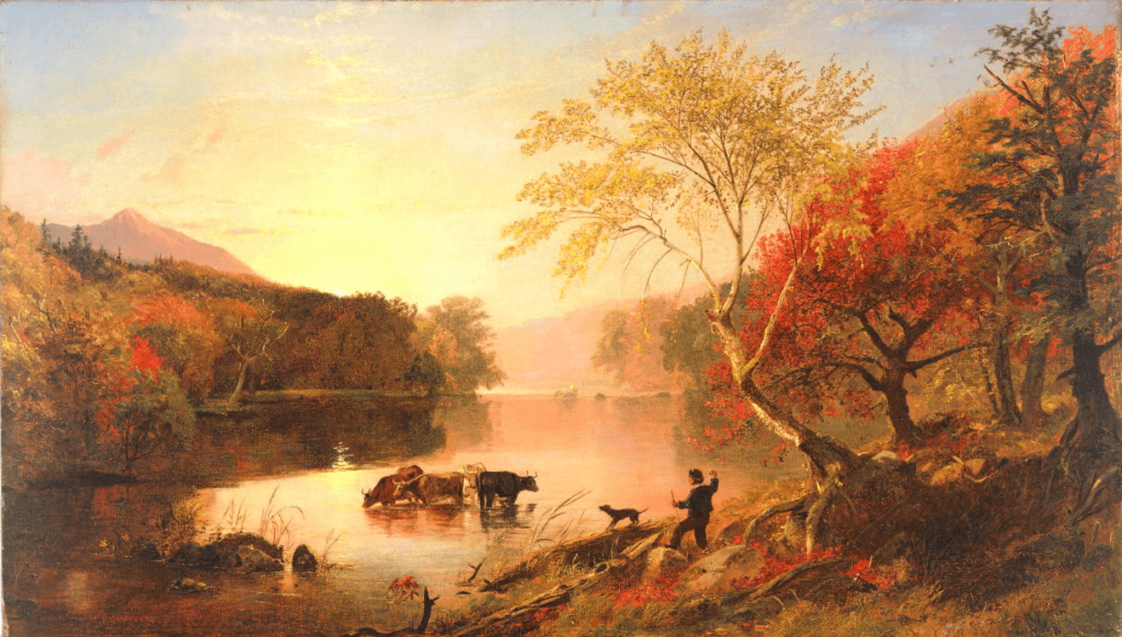Autumn on the Hudson by Jasper Cropsey