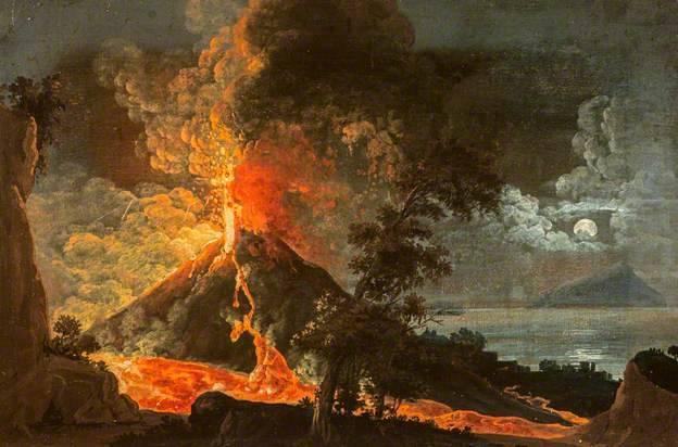 Volcanoes in Paintings
