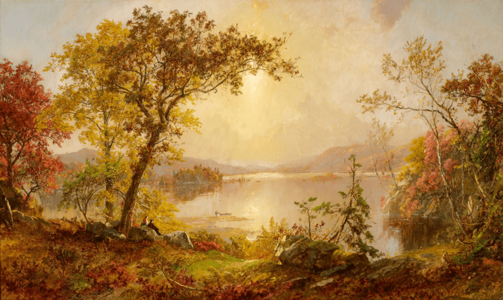 Greenwood Lake, Autumn on the Hudson by Jasper Cropsey