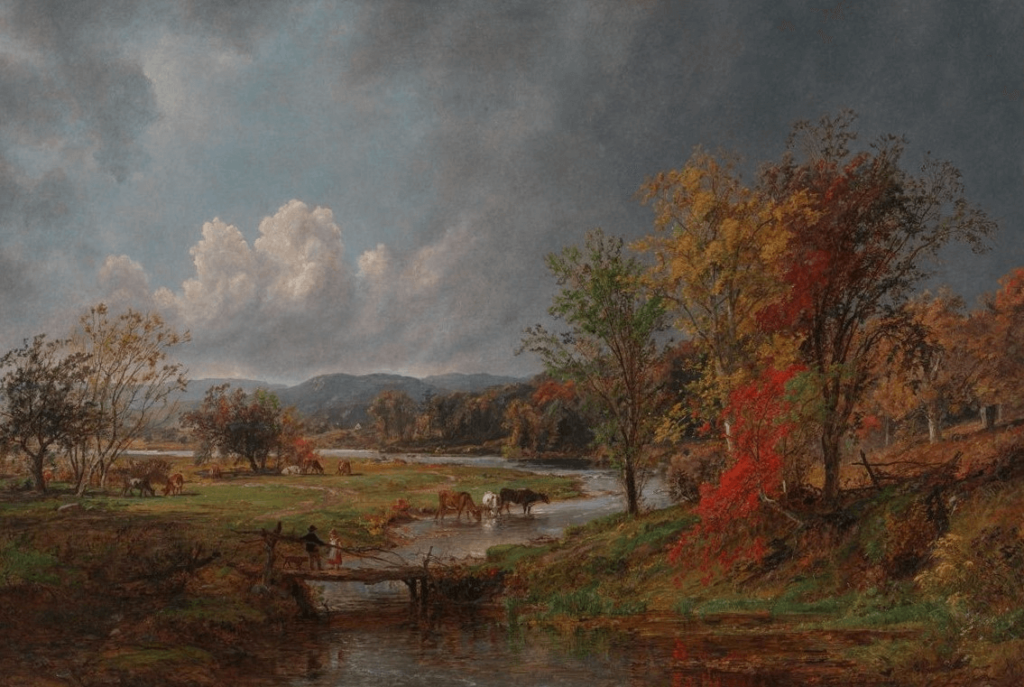 October by Jasper Cropsey