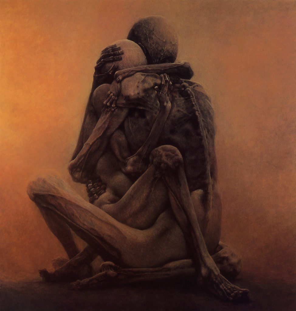 Zdzislaw Beksinski, Untitled, 1984, ©Gallery of  Zdzisław Beksiński,  The Historical Museum, Sanok, Poland.
