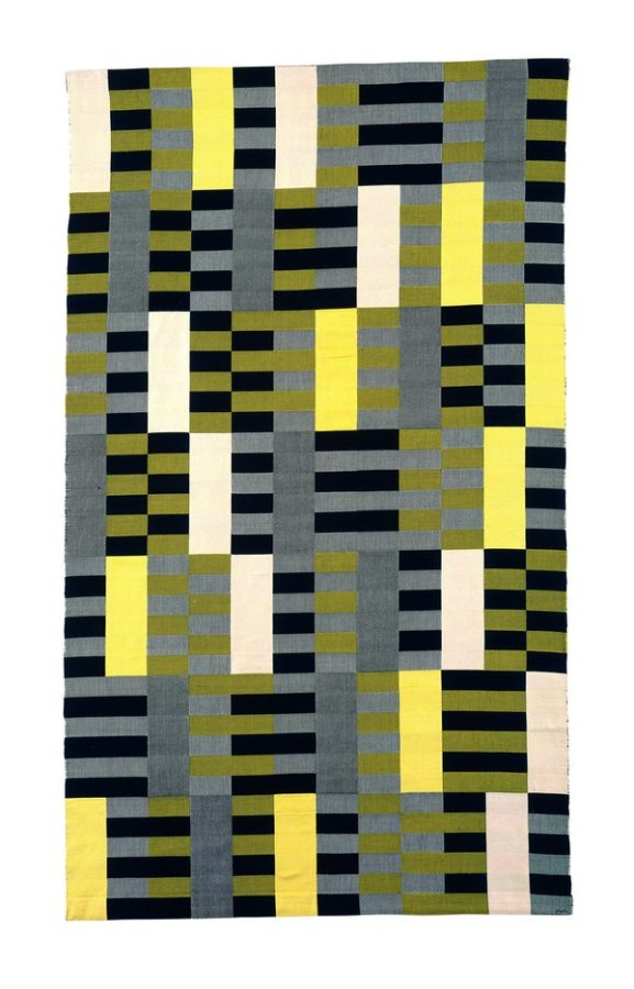 A tapestry by Anni Albers, one of the weavers at the Bauhaus.