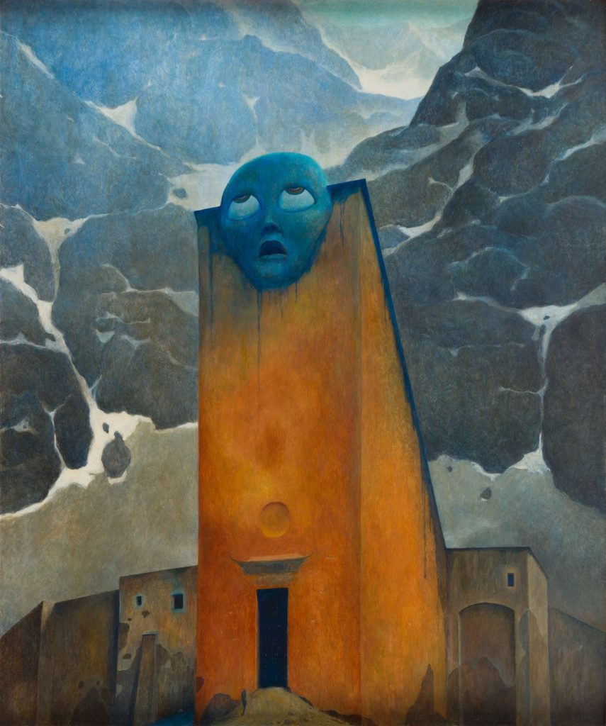 Zdzislaw Beksinski, Untitled, 1970, ©Gallery of  Zdzisław Beksiński,  The Historical Museum, Sanok, Poland.