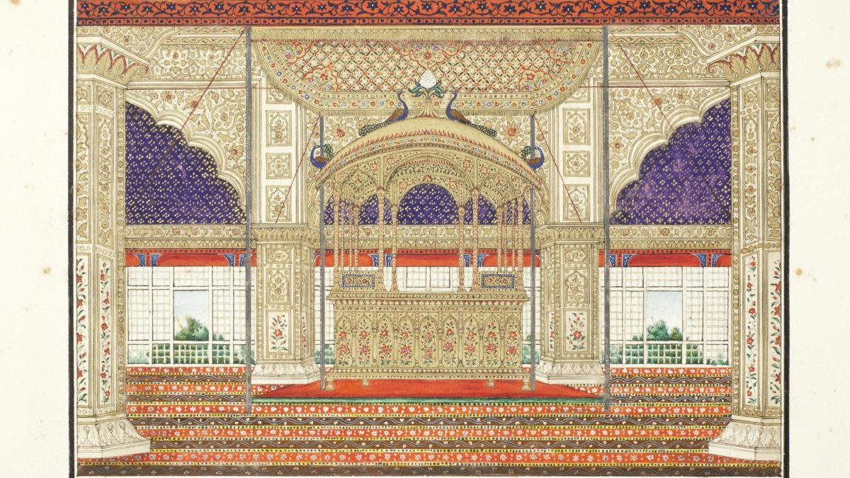 The Peacock Throne of Shah Jahan - Indian Art