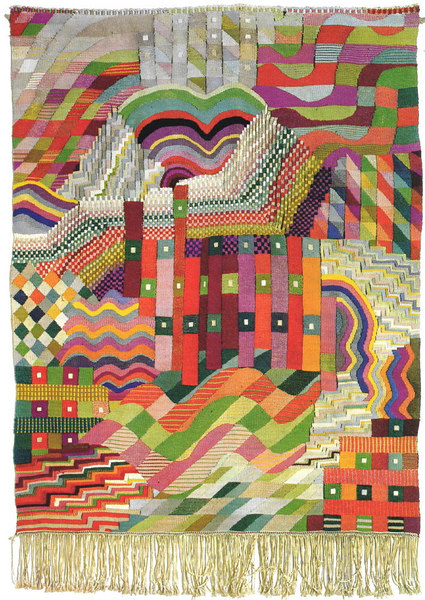 An image of a wall hanging by Gunta Stolzl.