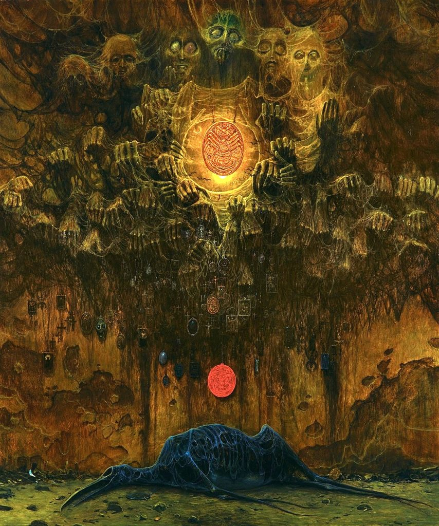 Zdzislaw Beksinski, Untitled, ©Gallery of  Zdzisław Beksiński,  The Historical Museum, Sanok., Poland.