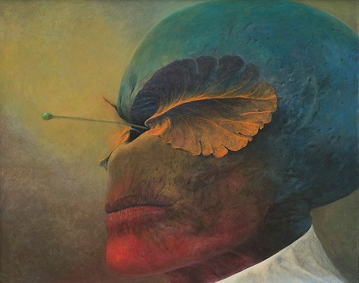 Zdzislaw Beksinski, Untitled, ©Gallery of  Zdzisław Beksiński,  The Historical Museum, Sanok, Poland.