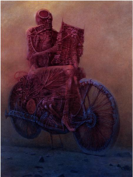 Zdzislaw Beksinski, Untitled, 1986, ©Gallery of  Zdzisław Beksiński,  The Historical Museum, Sanok, Poland.