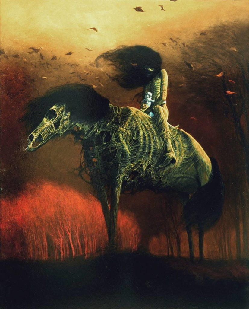 Zdzislaw Beksinski, Untitled, 1976, ©Gallery of  Zdzisław Beksiński,  The Historical Museum, Sanok, Poland.