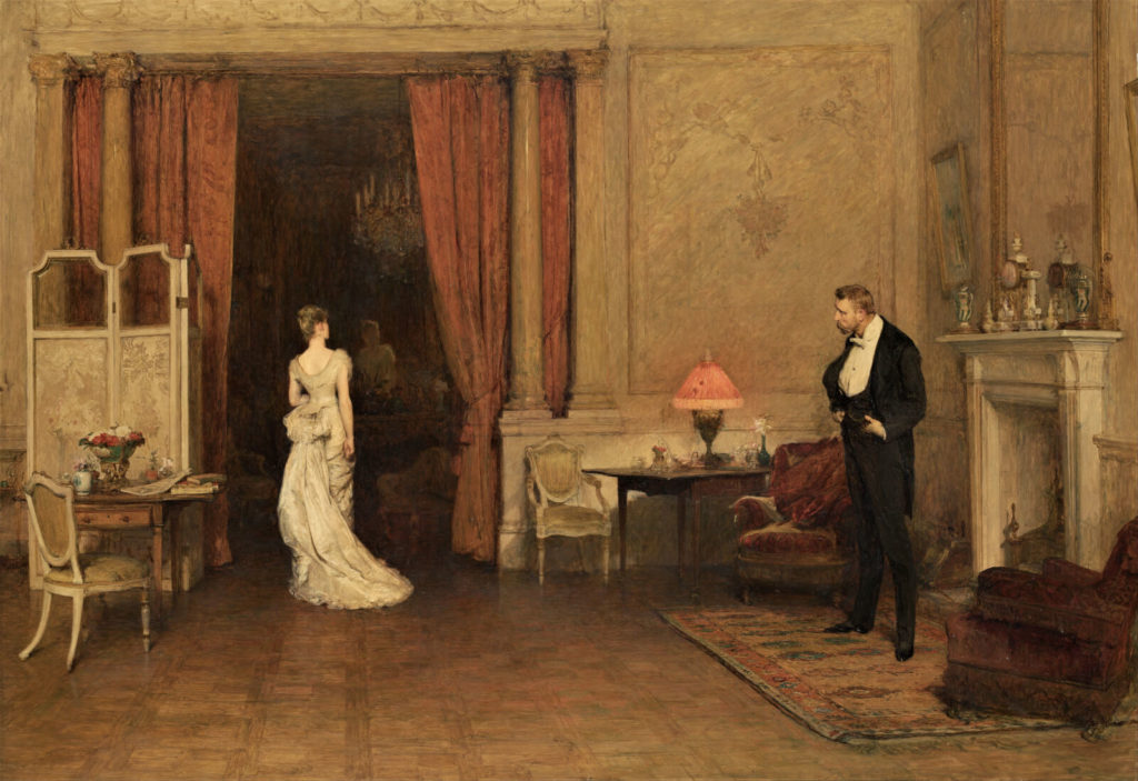 Sir William Orchardson, The First Cloud, 1887, National Gallery of Victoria, Melbourne.  Entire Painting.