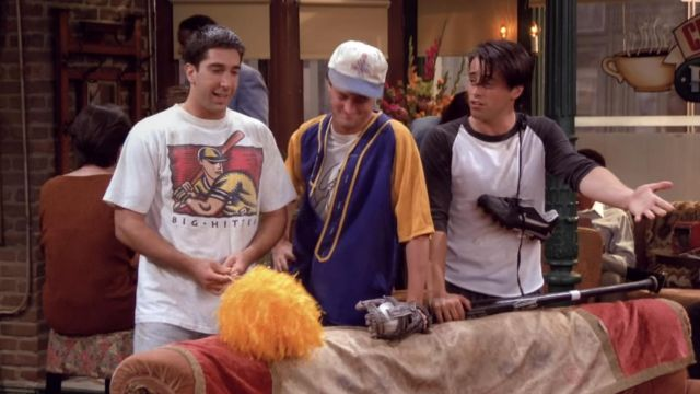 Ross wearing the Big Hitter t-shirt on season 1, episode 3. Source: Spotern.