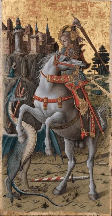 Saint George Slaying the Dragon by Carlo Crivelli, 1470