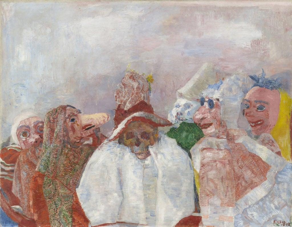 James Ensor Masks Confronting Death; Death in Art