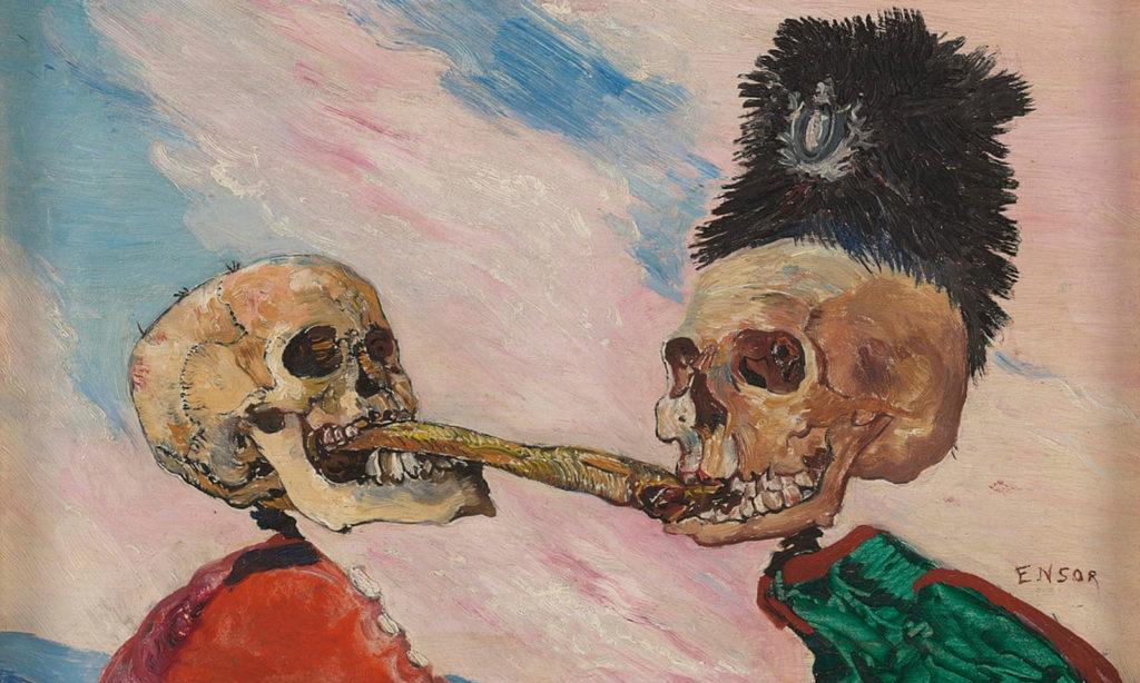 James Ensor Skeletons Fighting over a Pickled Herring