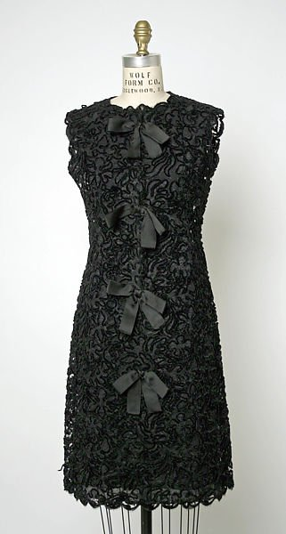 Balenciaga, Coctail dress, c.1963, synthetic, Costume Institute of the Metropolitan Museum of Art, New York, USA.