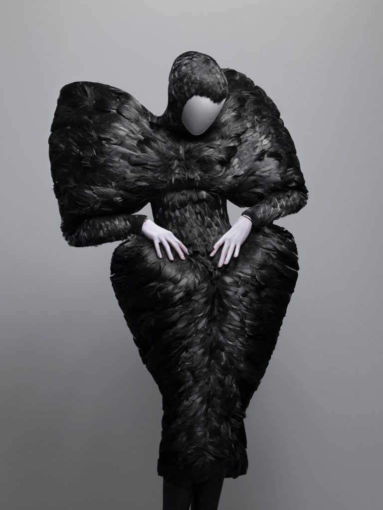 Alexander McQueen, The Horn of Plenty Collection, F/W 2009, Dress, black duck feathers, Source: The Metropolitan Museum of Art, New York, USA.