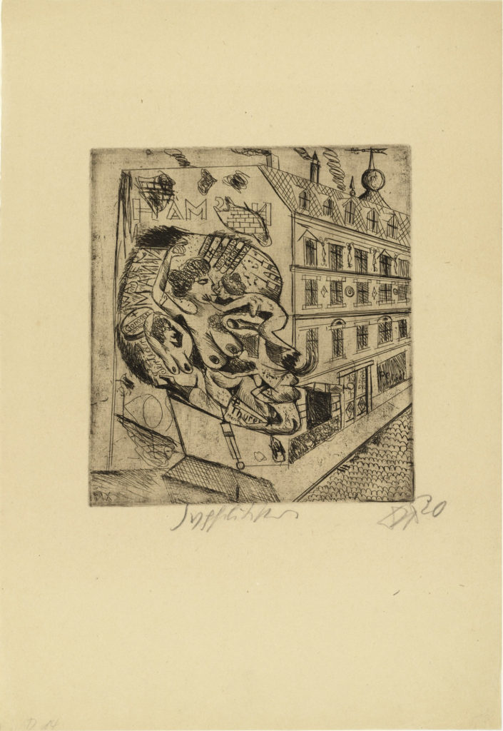 Syphilitic, for the portfolio 5 Etchings, 1920, etching, © 2016 Artists Rights Society (ARS), New York / VG Bild-Kunst, Bonn. etchings of Otto Dix