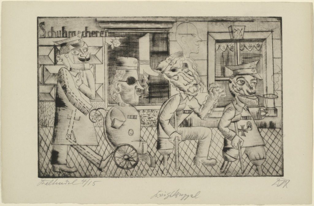 War cripples, 1920, drypoint, © 2016 Artists Rights Society (ARS), New York / VG Bild-Kunst, Bonn. etchings of Otto Dix