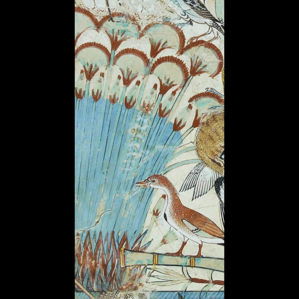 Artist Unknown, Fowling in the Marshes, ca. 1350 BCE, British Museum, London. Detail of marshes.